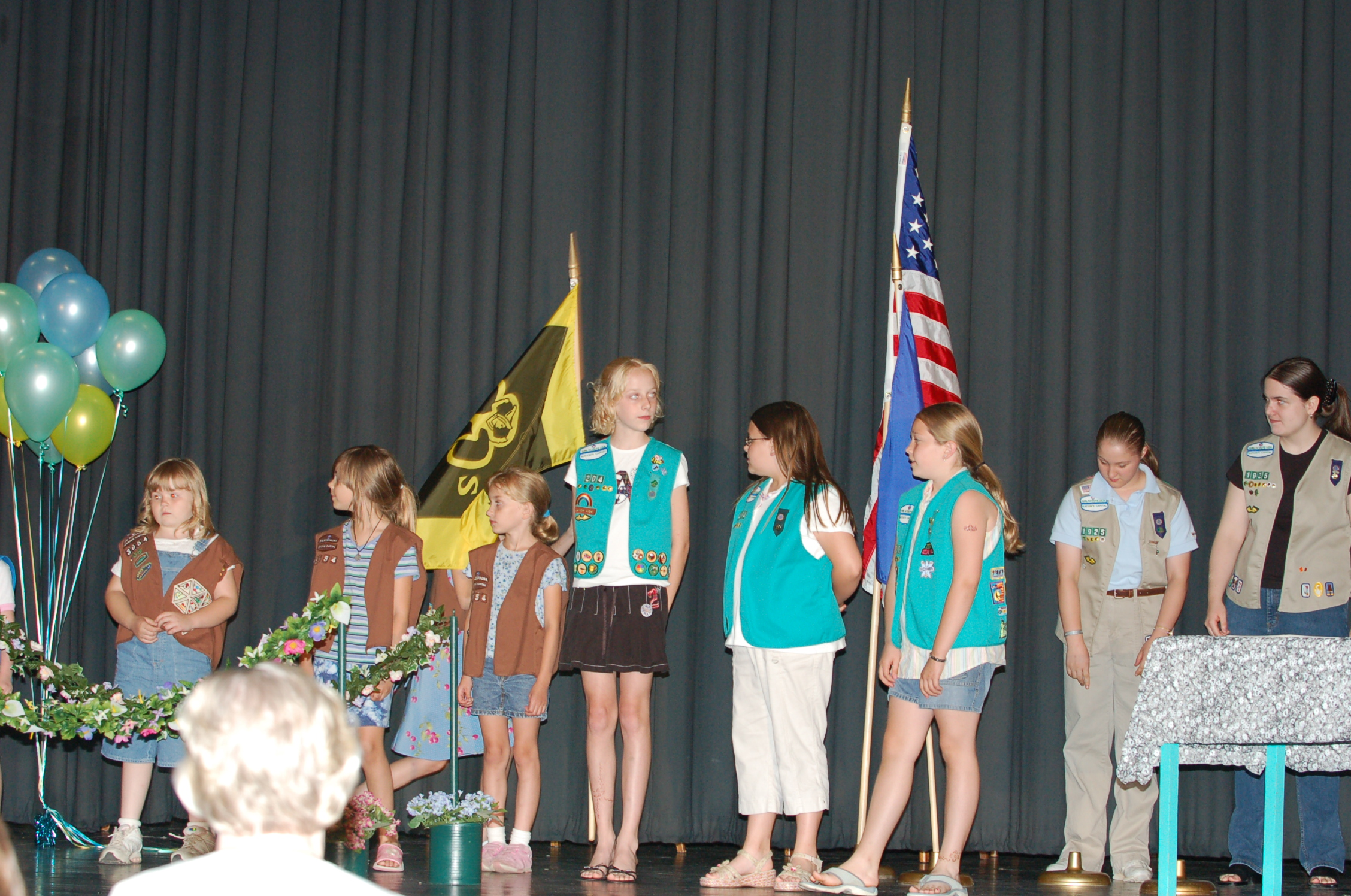 2006 girl scout bridging ceremony